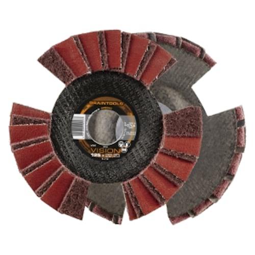 10x Rhodius VSK Vision Fächerschleifscheibe Korn:0 Ø125mm | 209504