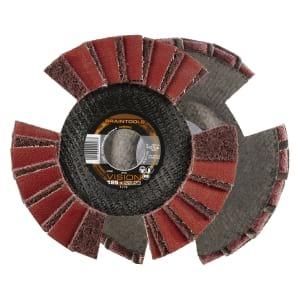 10x Rhodius VSK Vision Fächerschleifscheibe Korn:0 Ø125mm   209504