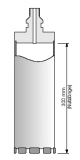 Diamant Bohrkronen System Elektro R 1/2 300 mm Nutzlänge