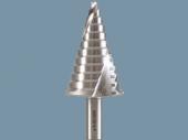 Präzisions - Stufenbohrer 3 mm steigend, spiral genutet