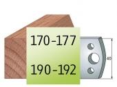 Profilmesser 40 x4  Nr 170-177, 190-192