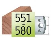 Profilmesser 50 x4 Nr 551-580