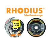 Rhodius Metall-Trennscheiben für Inox XT 70 & Lamellen -Fächerschleifscheiben LSZ F2