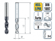 HSS-ECo Spiralbohrer. Extra Kurz. DIN 1897 Forte