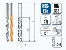HSS-ECo Spiralbohrer. Kurz. DIN 338 RN