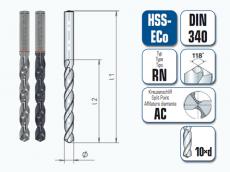 HSS-ECo Spiralbohrer. Lang. DIN 340 RN