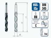 HSS-ECo Spiralbohrer. Kurz. mit Morsekegel. DIN 345 RN