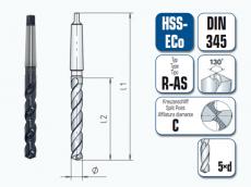 HPT. HSS-ECo Spiralbohrer. Kurz. mit Morsekegel. DIN 345 R-AS