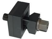 Blechlocher für schwere Steckverbinder mit in die Matrize integrierter Bohrschablone
