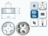 HSS-Cobalt Schneideisen für metrisches ISO-Gewinde DIN13
