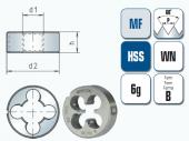 Schneideisen für metrisches ISO-Feingewinde DIN13