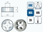 Schneideisen für Unified Grobgewinde UNC Ansi B 1.1