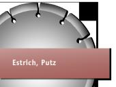 für Estrich, Putz
