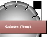 für Gasbeton (Ytong)
