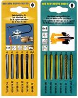Laubsägeblättersets für Hand- und Maschineneinsatz