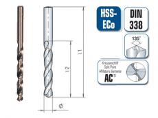 HSS E Spiralbohrer. geschliffen  DIN 338 .5% kobaltlegiert.135° Spitze