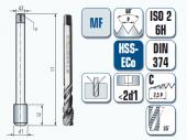 Maschinengewindebohrer, spiral-genutet, für metrisches ISO-Feingewinde DIN 13