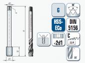 Maschinengewindebohrer, spiral-genutet, für Whitworth-Rohrgewinde, DIN ISO 228