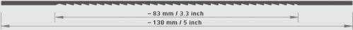 Laubsägeblatt für Handeinsatz Goliath 52 Engzahn