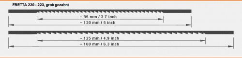 Marketeriesägeblätter Fretta 130 mm für Holz und Platten
