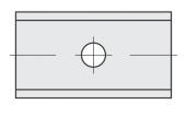 Standard  Rechteck 2 Schneidekanten mit 1 Loch