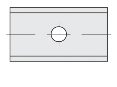 Standard Wendeschneidplatten Rechteck 2 Schneidekanten mit 1 Loch