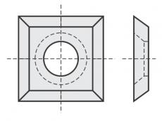 Standard Wendeschneidplatten quadratisch 4 Schneidekanten mit 1 Loch mit großer Bohrung