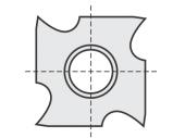 Standard   Hackenplatte 4 Hacken mit 1 Loch