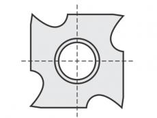 Standard Wendeschneidplatten  Hackenplatte 4 Hacken mit 1 Loch
