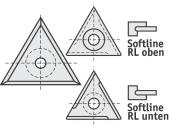 Standard  Dreieck 3 Schneidekanten mit 1 Loch