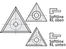 Standard Wendeschneidplatten Dreieck 3 Schneidekanten mit 1 Loch