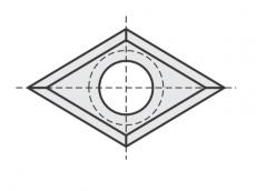 Standard Wendeschneidplatten Raute 4 Schneidekanten mit 1 Loch