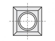 Spezial Wendeschneidplatten quadratisch 4 Schneidekanten mit 1 Loch
