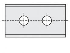 Standard Wendeschneidplatten Rechteck 2 Schneidekanten mit 2 Löchern und 2 Schneidekanten