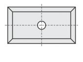 Standard  Rechteck 4 Schneidekanten mit 1 Loch