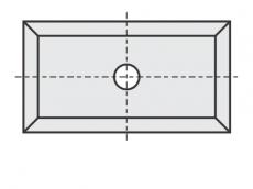 Standard Wendeschneidplatten Rechteck 4 Schneidekanten mit 1 Loch