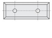 Standard  Rechteck 4 Schneidekanten mit 2 Löchern