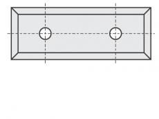 Standard Wendeschneidplatten Rechteck 4 Schneidekanten mit 2 Löchern