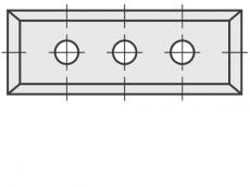 Standard Wendeschneidplatten Rechteck 4 Schneidekanten mit 3 Löchern