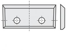 Standard Wendeschneidplatten Rechteck mit 2 Löchern und 4 Schneidekanten