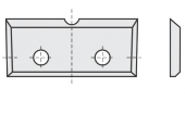 Standard  Rechteck 4 Schneidekanten mit 2 Löchern und Einkerbung
