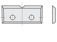 Standard Wendeschneidplatten Rechteck 4 Schneidekanten mit 2 Löchern und Einkerbung