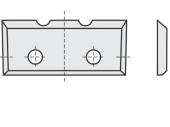 Standard  Rechteck 4 Schneidekanten mit 2 Löchern und 2 Einkerbungen