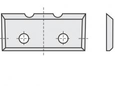 Standard Wendeschneidplatten Rechteck 4 Schneidekanten mit 2 Löchern und 2 Einkerbungen