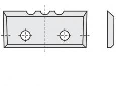 Standard Wendeschneidplatten Rechteck 4 Schneidekanten mit 2 Löchern und 3 Einkerbungen