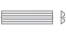 Mini Wendeschneideplatten 2 Schneidkanten + Rückennut