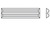 Mini Wendeschneideplatten 4 Schneidkanten + Rückennut