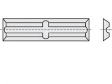 Mini Wendeschneideplatten 4 Schneidkanten + Rücken- und Quernut
