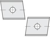 Standard  Trapezform 2 Schneidekanten mit 1 Loch