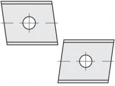Standard Wendeschneidplatten Trapezform 2 Schneidekanten mit 1 Loch